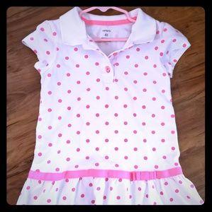 4t carters polka dot dress